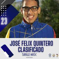 José Felix Quintero es el Venezolano N°23 clasificado a Tokyo